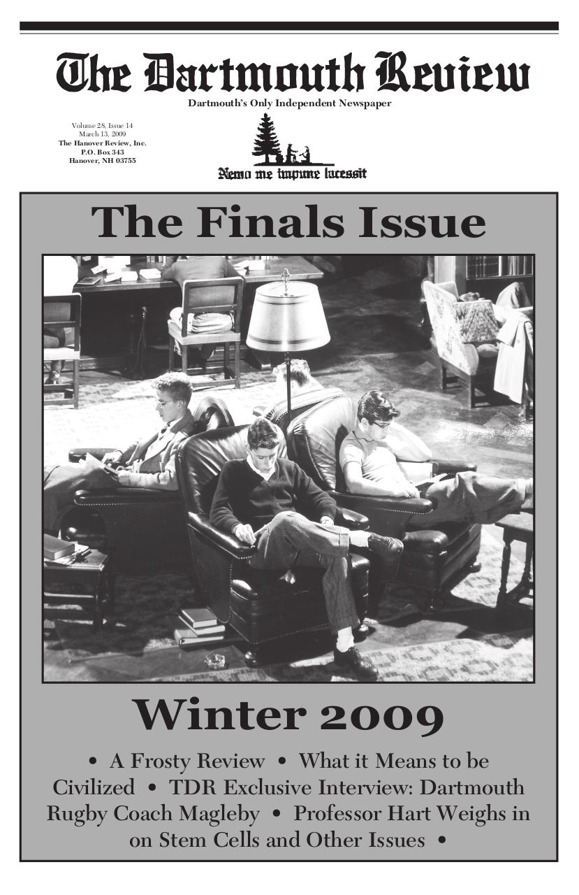 The Dartmouth Review 3.13.2009 Volume 28, Issue 14.pdf - page 1/8
