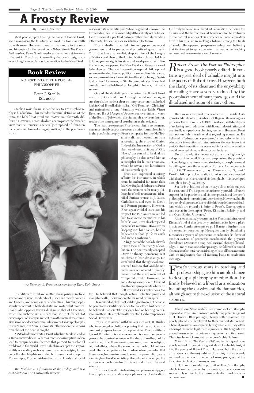 The Dartmouth Review 3.13.2009 Volume 28, Issue 14.pdf - page 2/8