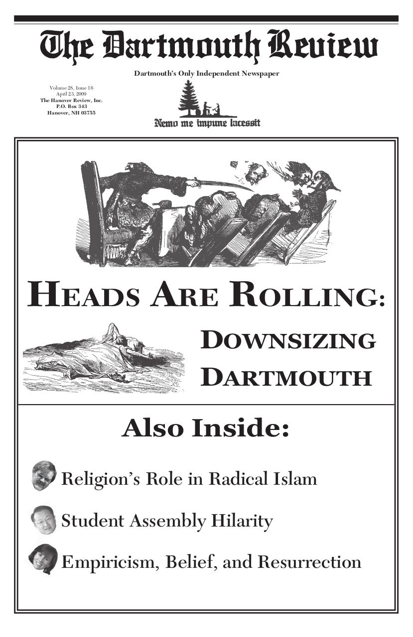 The Dartmouth Review 4.23.2009 Volume 28, Issue 16.pdf - page 1/16