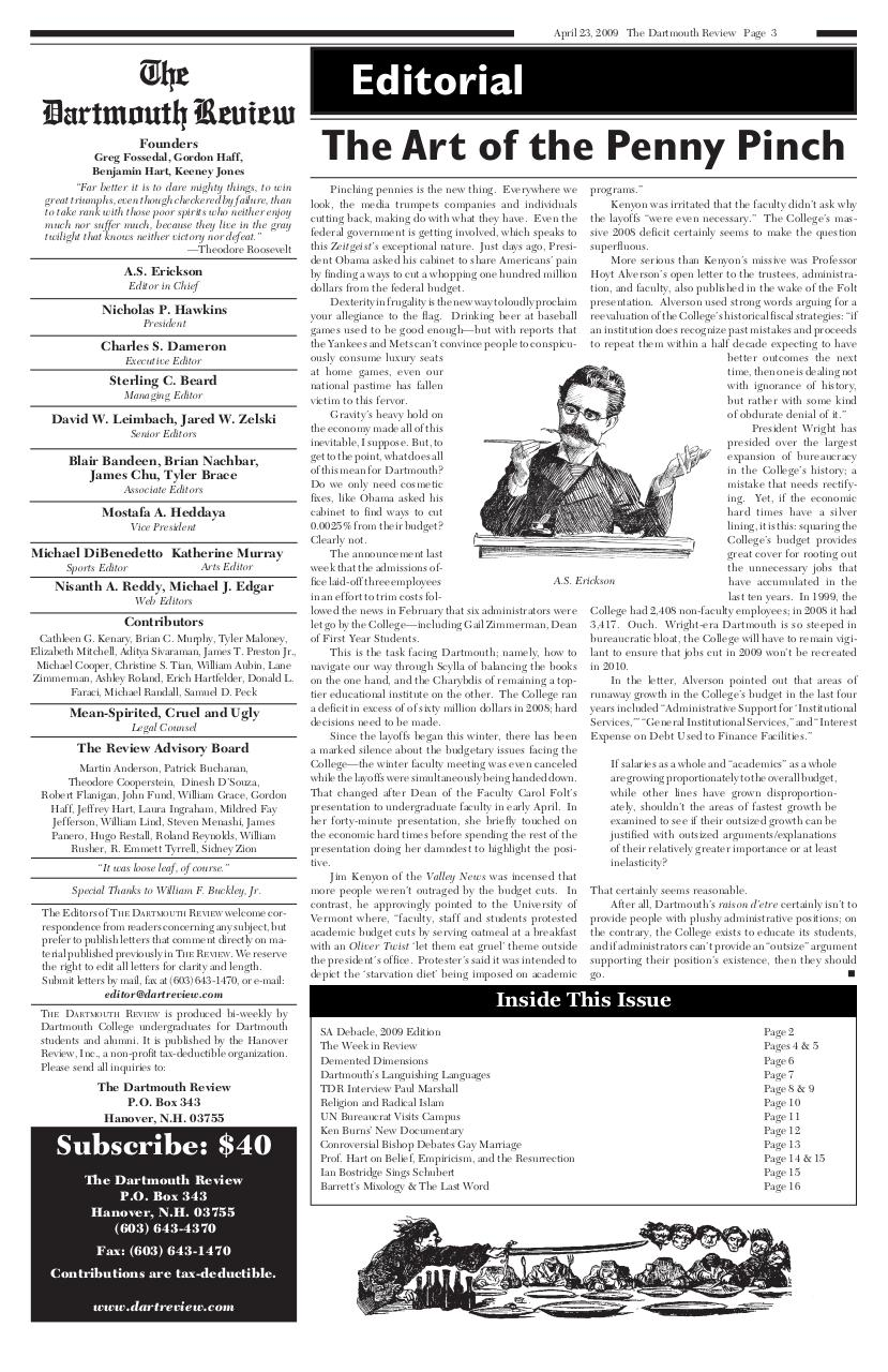 The Dartmouth Review 4.23.2009 Volume 28, Issue 16.pdf - page 3/16