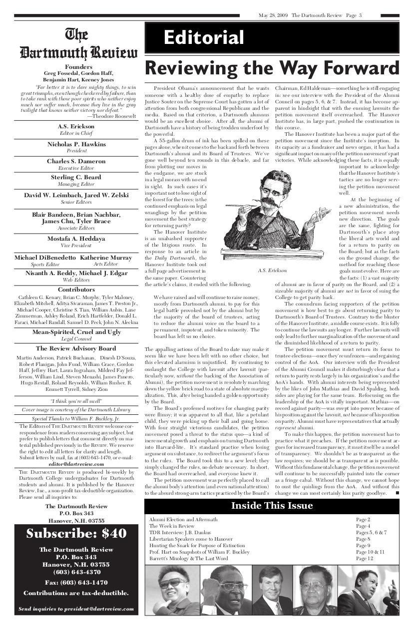 The Dartmouth Review 5.28.2009 Volume 28, Issue 18.pdf - page 3/12