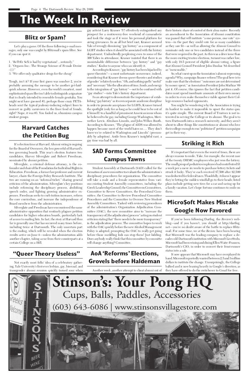 The Dartmouth Review 5.28.2009 Volume 28, Issue 18.pdf - page 4/12