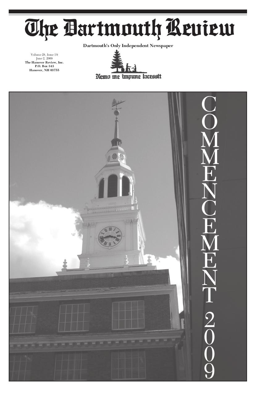 The Dartmouth Review 6.2.2009 Volume 28, Issue 19.pdf - page 1/20