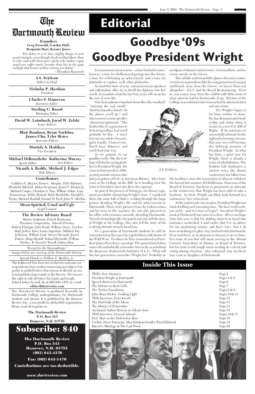 The Dartmouth Review 6.2.2009 Volume 28, Issue 19.pdf - page 3/20