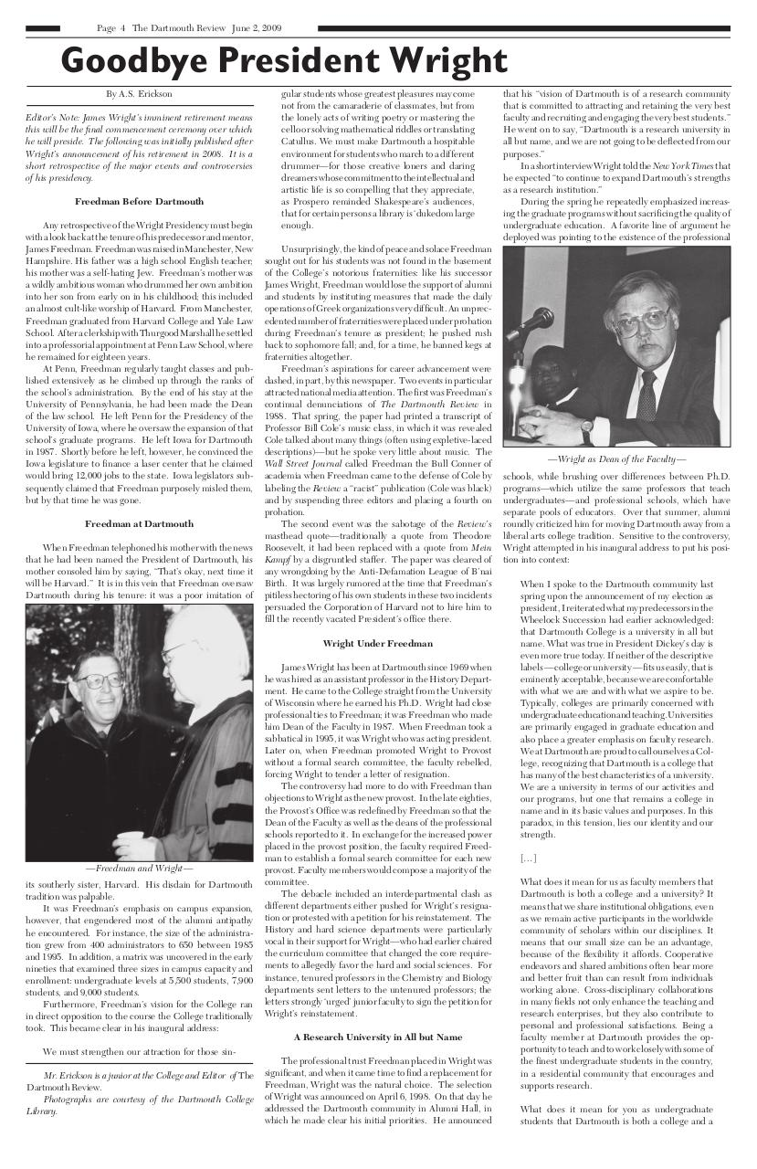 The Dartmouth Review 6.2.2009 Volume 28, Issue 19.pdf - page 4/20