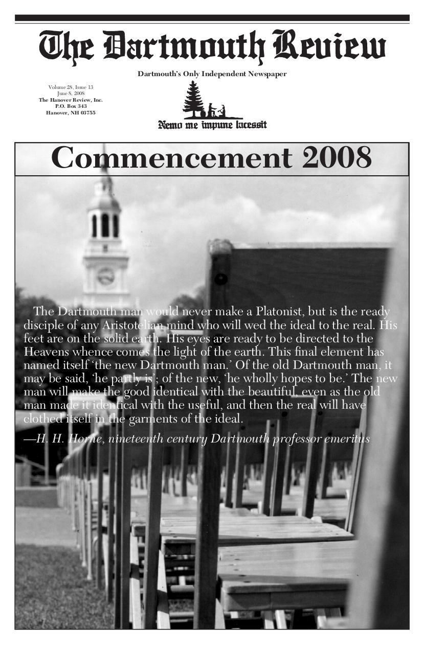 The Dartmouth Review 6.8.2008 Volume 28, Issue 13.pdf - page 1/20