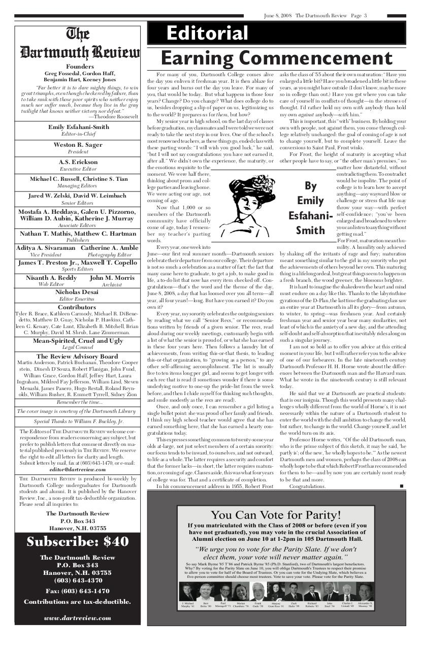 The Dartmouth Review 6.8.2008 Volume 28, Issue 13.pdf - page 3/20