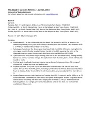 PDF Document this week in maverick athletics 4 21 14