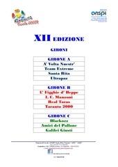 gironi xii mundialito junior 2014