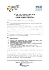 regolamento i mundialito baby 2014