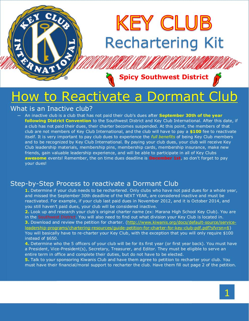 Document preview Rechartering a Southwest District Club.pdf - page 1/2