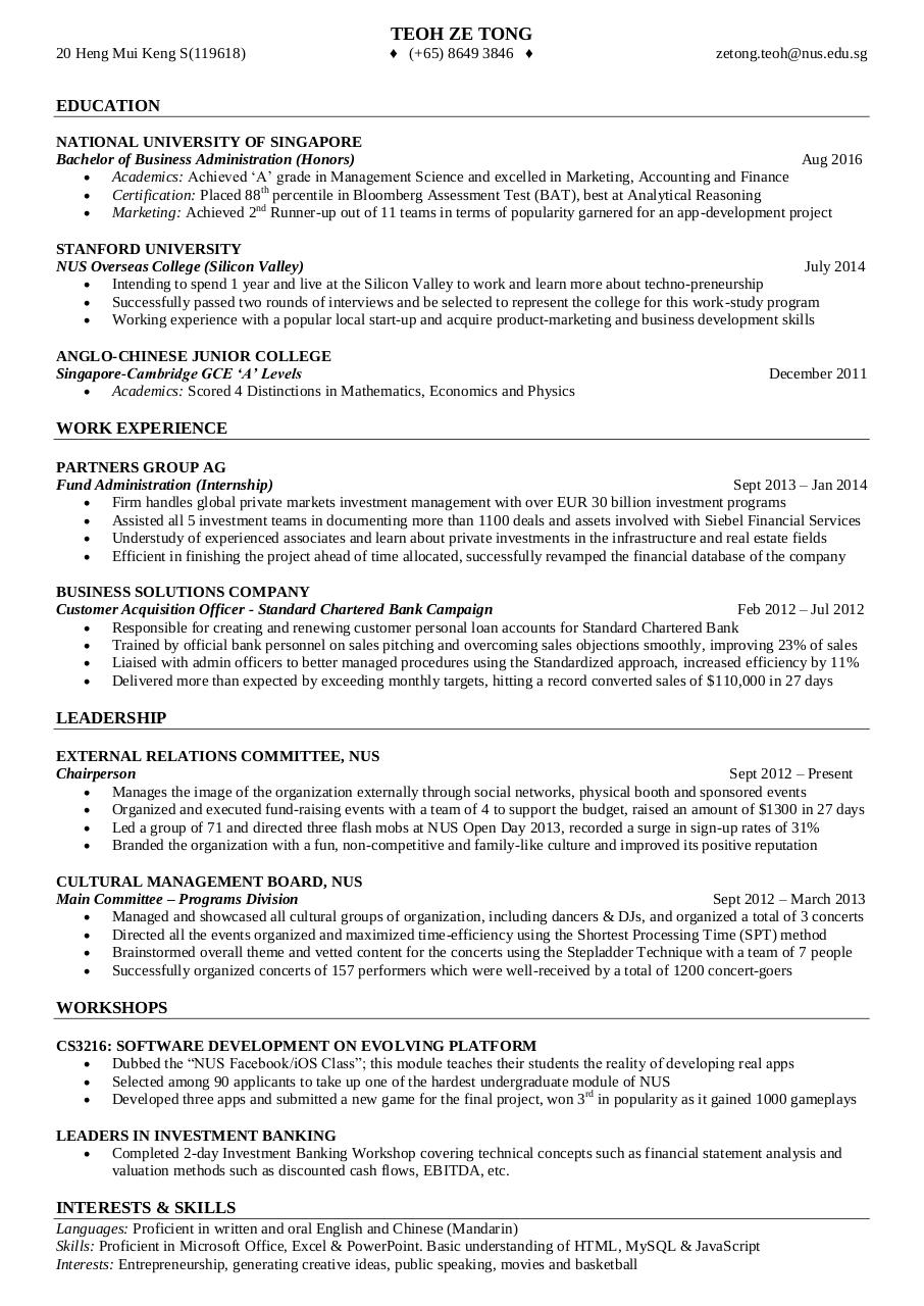Unusual Good Resume Previews Gallery Example Resume Ideas