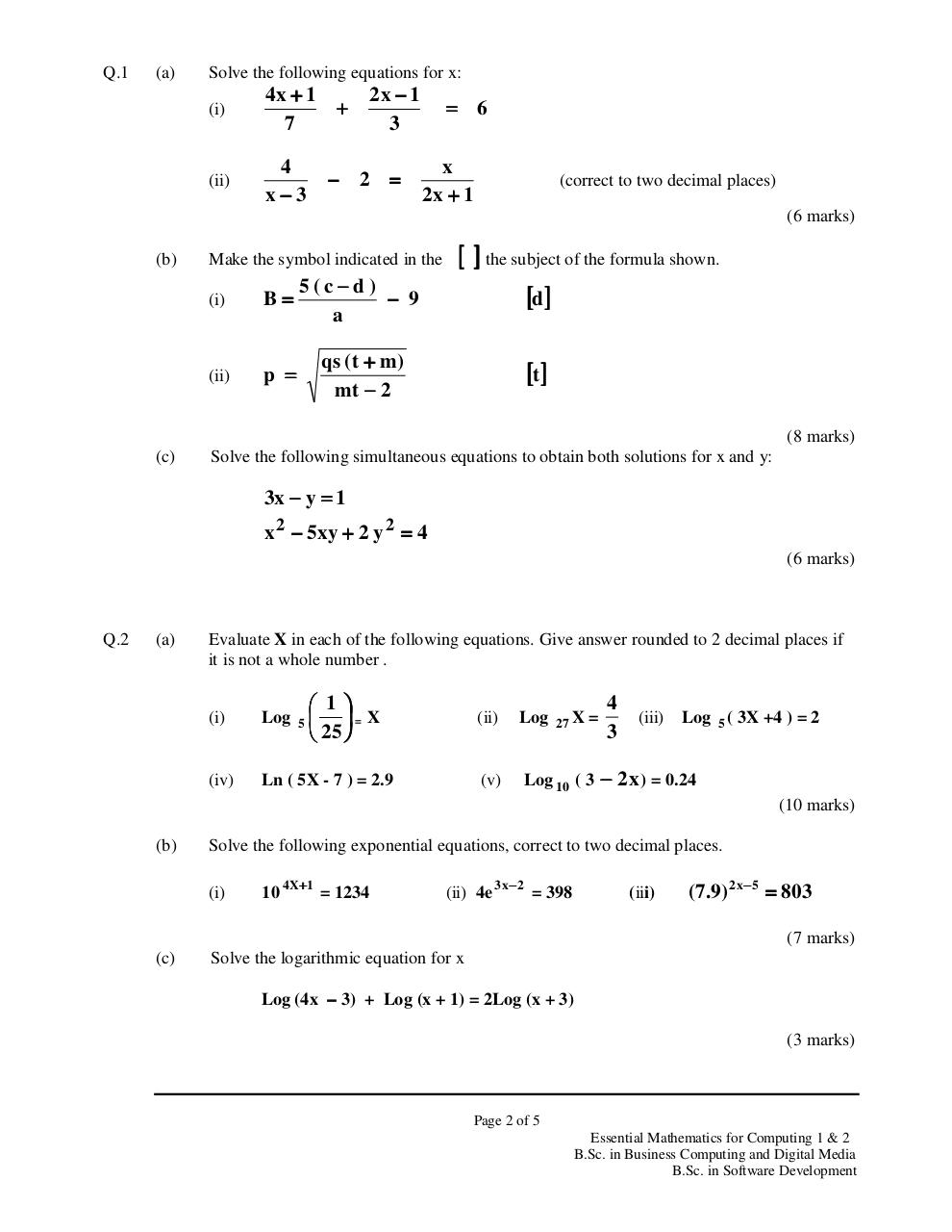 Maths (Summer 2010).PDF - page 2/6