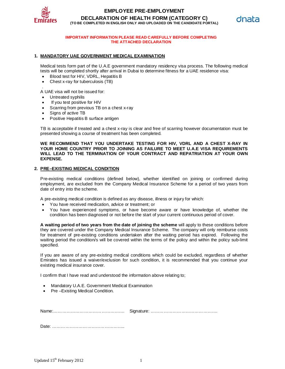 emirates Pre-employment Medical Examination Form.pdf - page 1/9