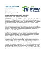 homeowner workshop release