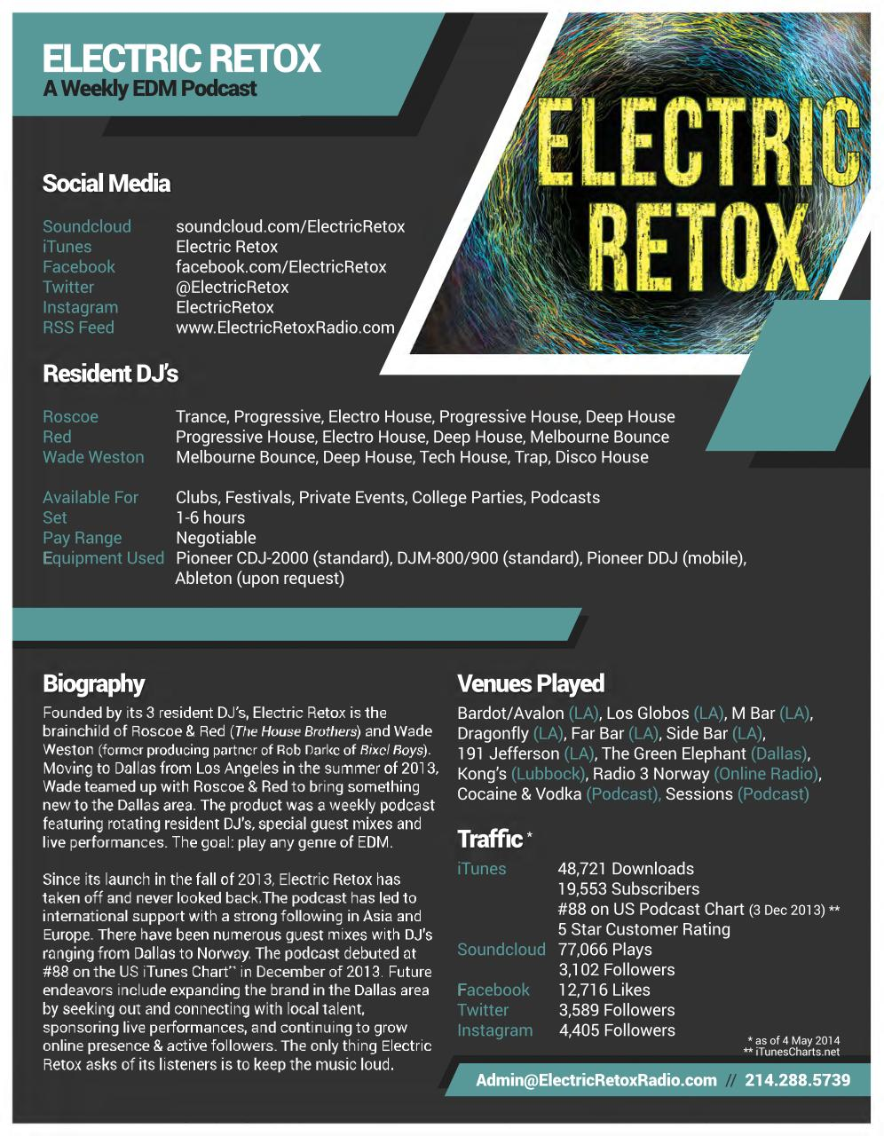 Document preview Electric Retox - One Sheet (updated 5-4-14).pdf - page 1/1