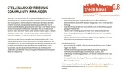 stellenangebot community manager