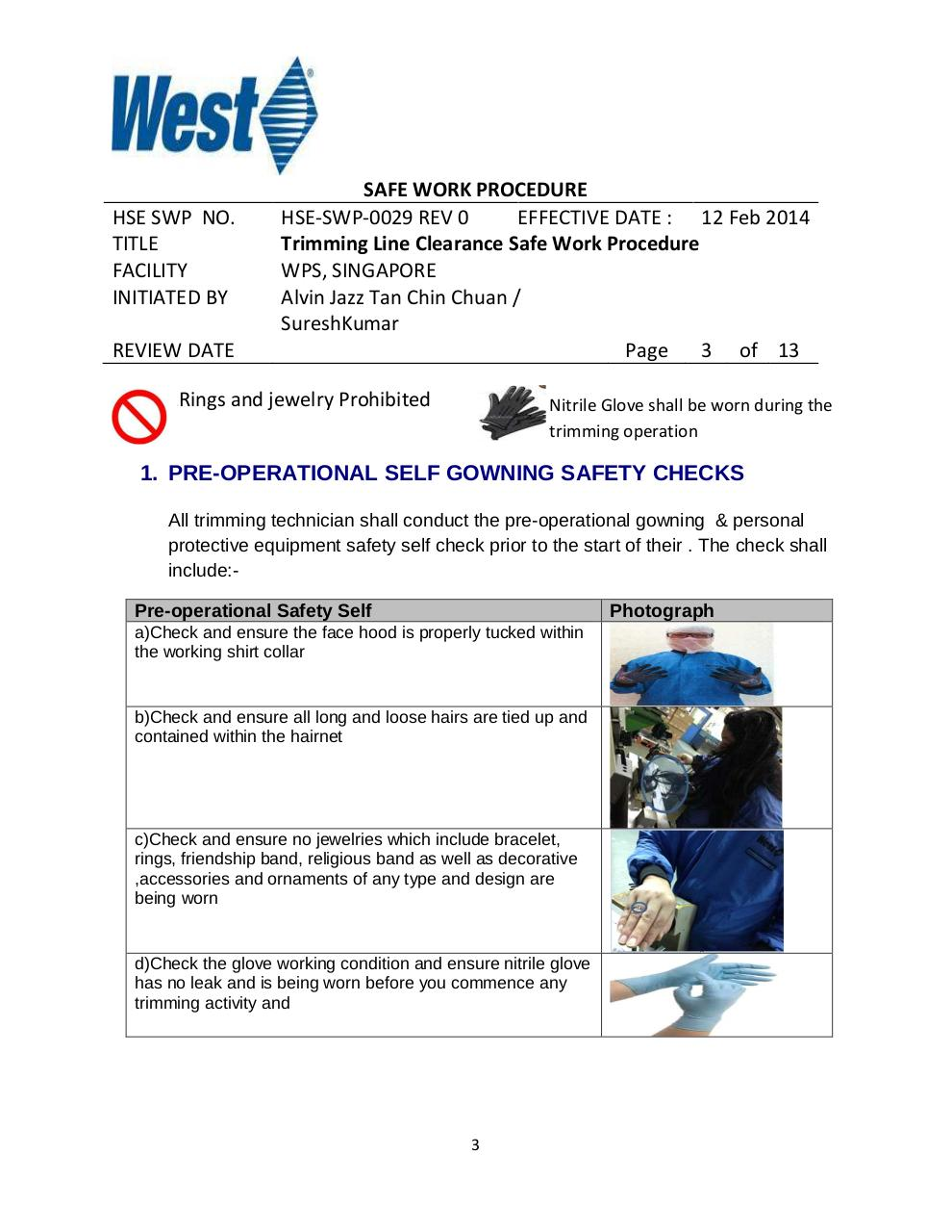 Trimming Operation Line Clearance Safe Work Procedure Rev 1.pdf - page 3/13