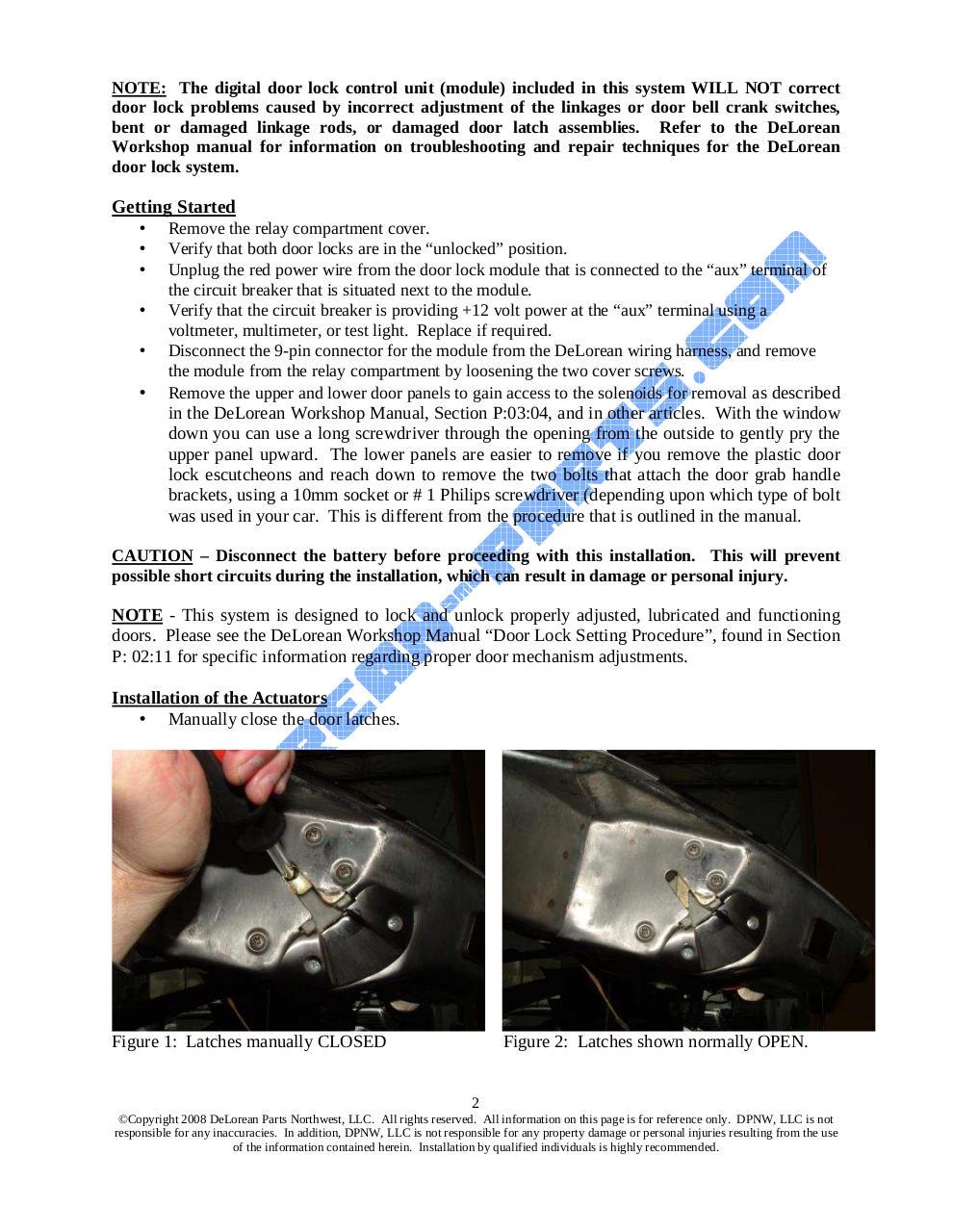 Door Lock Upgrade System Instructions Combo - Digital Door Lock ...
