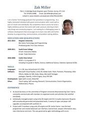 zak miller cv software design 2014