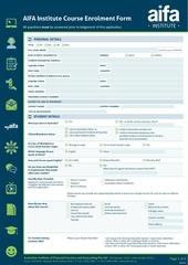 enrolment form 010514