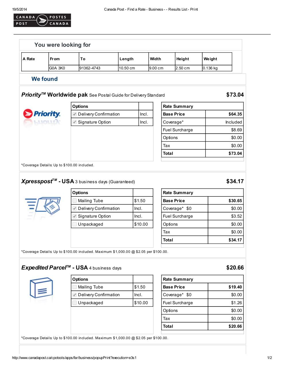 Document preview Canada Post.pdf - page 1/2