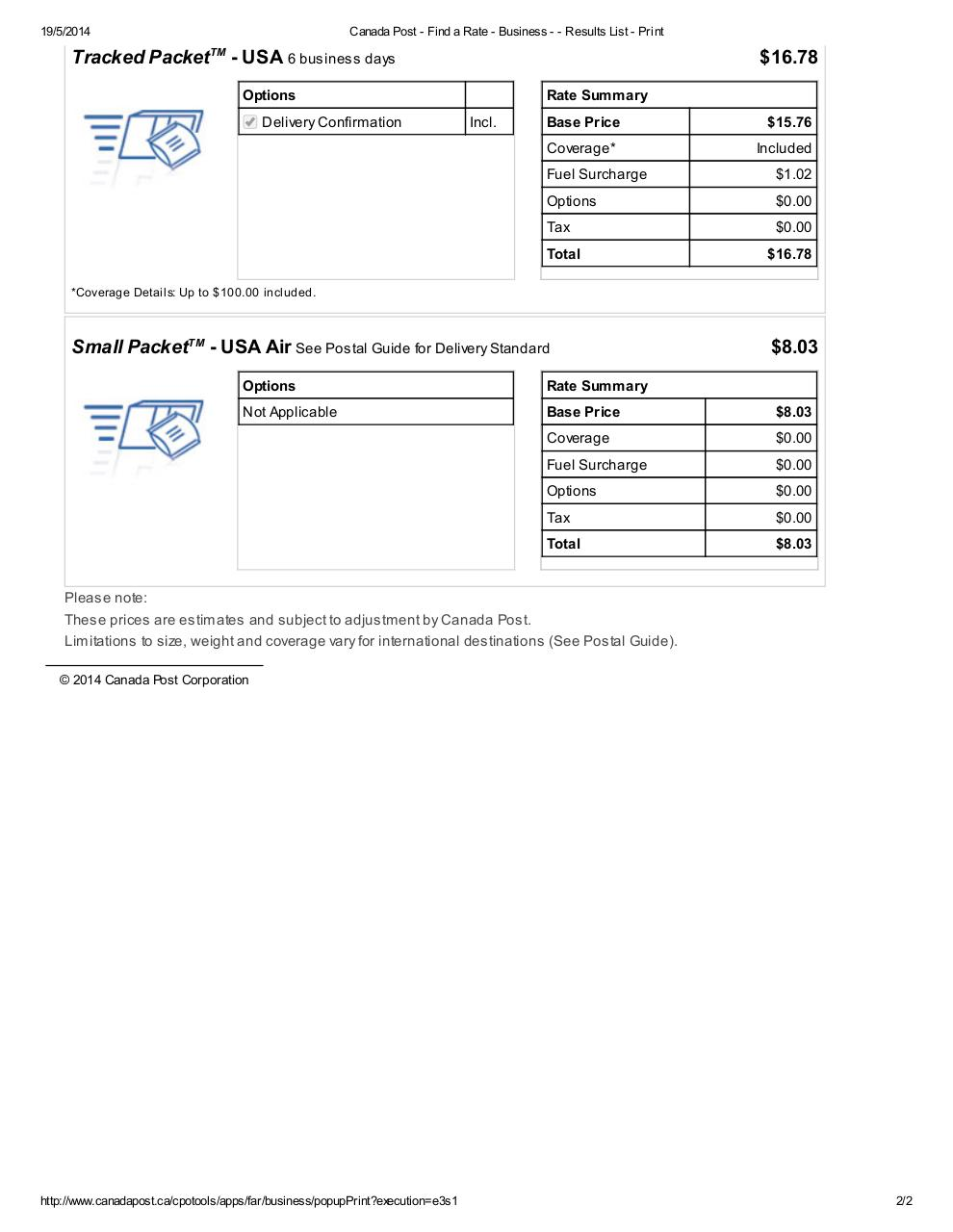 Document preview Canada Post.pdf - page 2/2