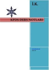 PDF Document kpds ders notlar