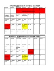 football calander 2014