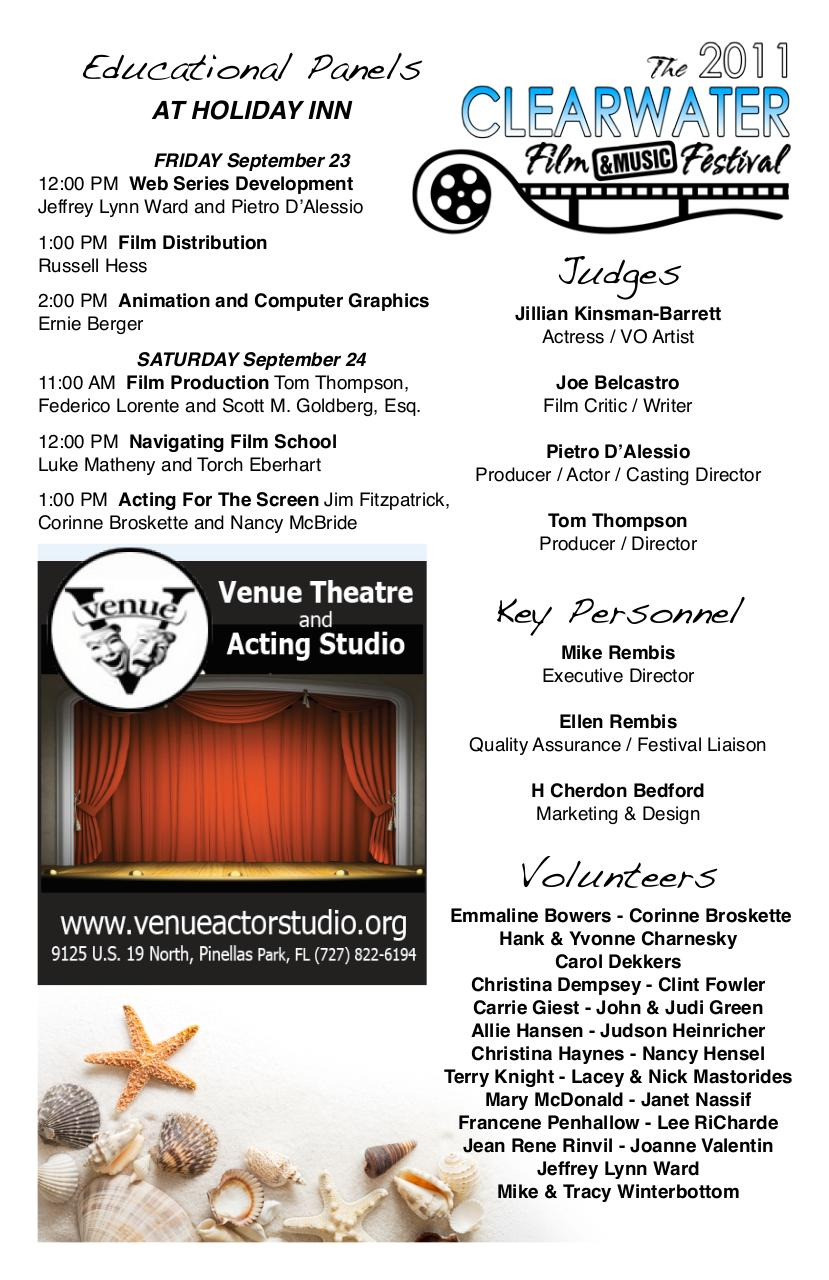 The 2011 Clearwater Film & Music Festival Official Program.pdf - page 3/20