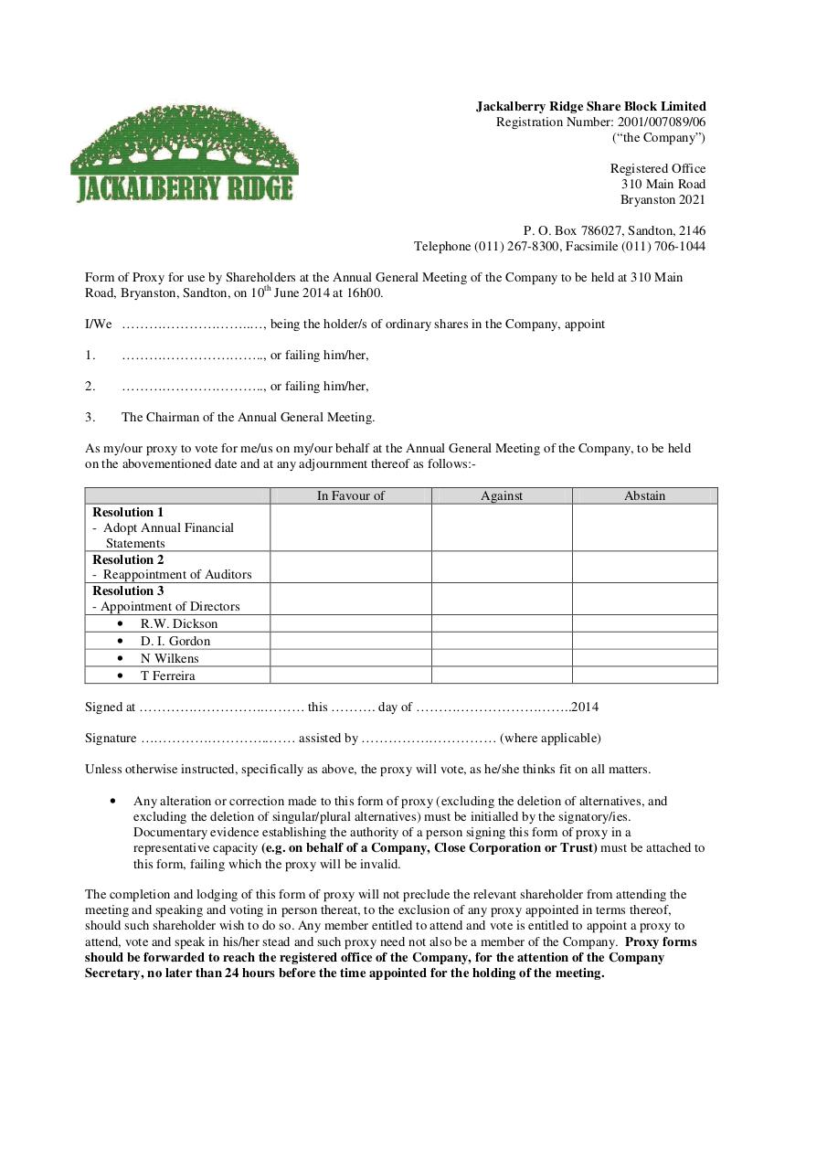 Document preview AGM Proxy Form.pdf - page 1/1