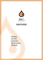 dna fit report pdf sample