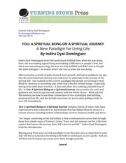 press kit you a spiritual being on a spiritual journey