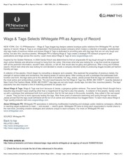 wags tags selects whitegate pr as agency of record