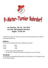infos und regeln zum 9 meter turnier