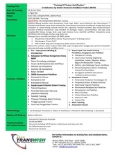 transwish training for trainer bnsp cert