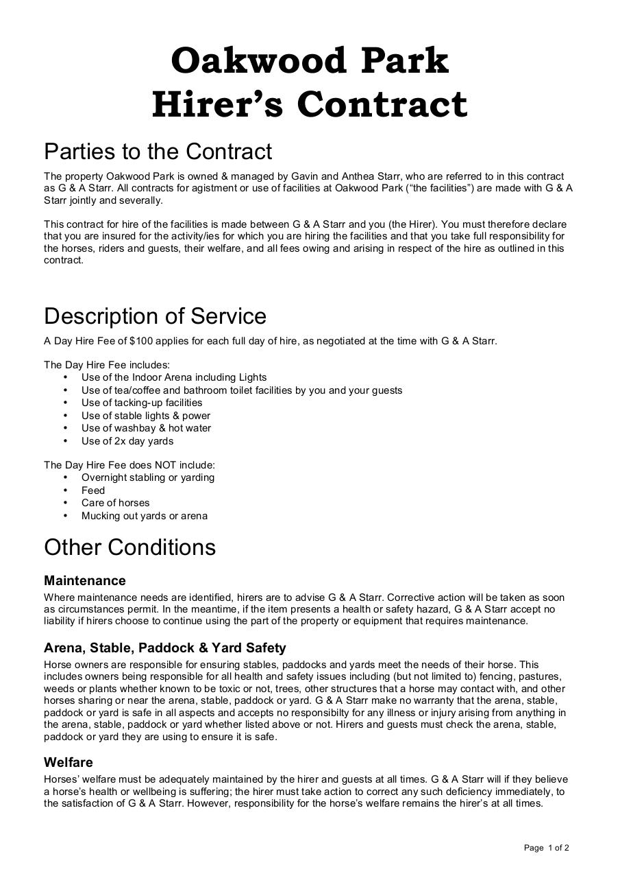 Hirer's Contract.pdf - page 1/2