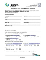 tesa trainings agenda 2014 and registration form