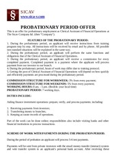 probationary period offer