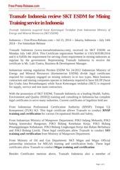 press release skt esdm fpr