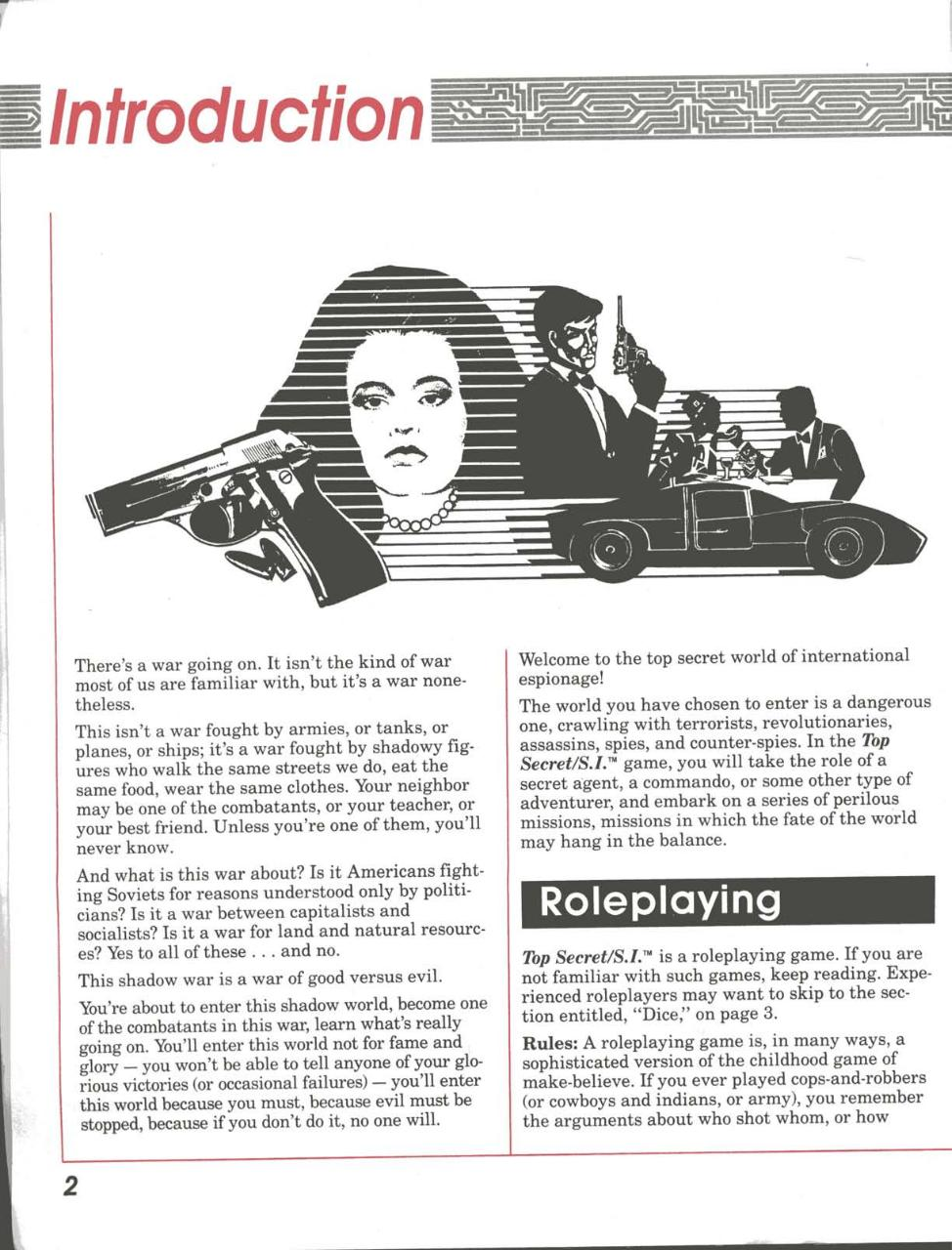 TSR Top Secret S.I. RPG - Players Guide (Boxed Set).pdf - page 3/98
