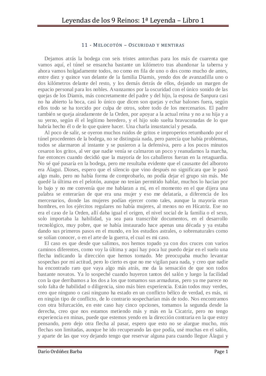 Document preview 11 - Melocotón - Oscuridad y mentiras.pdf - page 1/4