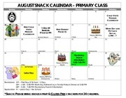 PDF Document primary snack calendar august