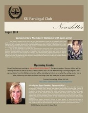 paralegal club newsletter august 2014