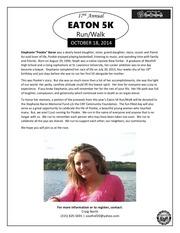 PDF Document eaton 5k memorial info stephanie baron 2014