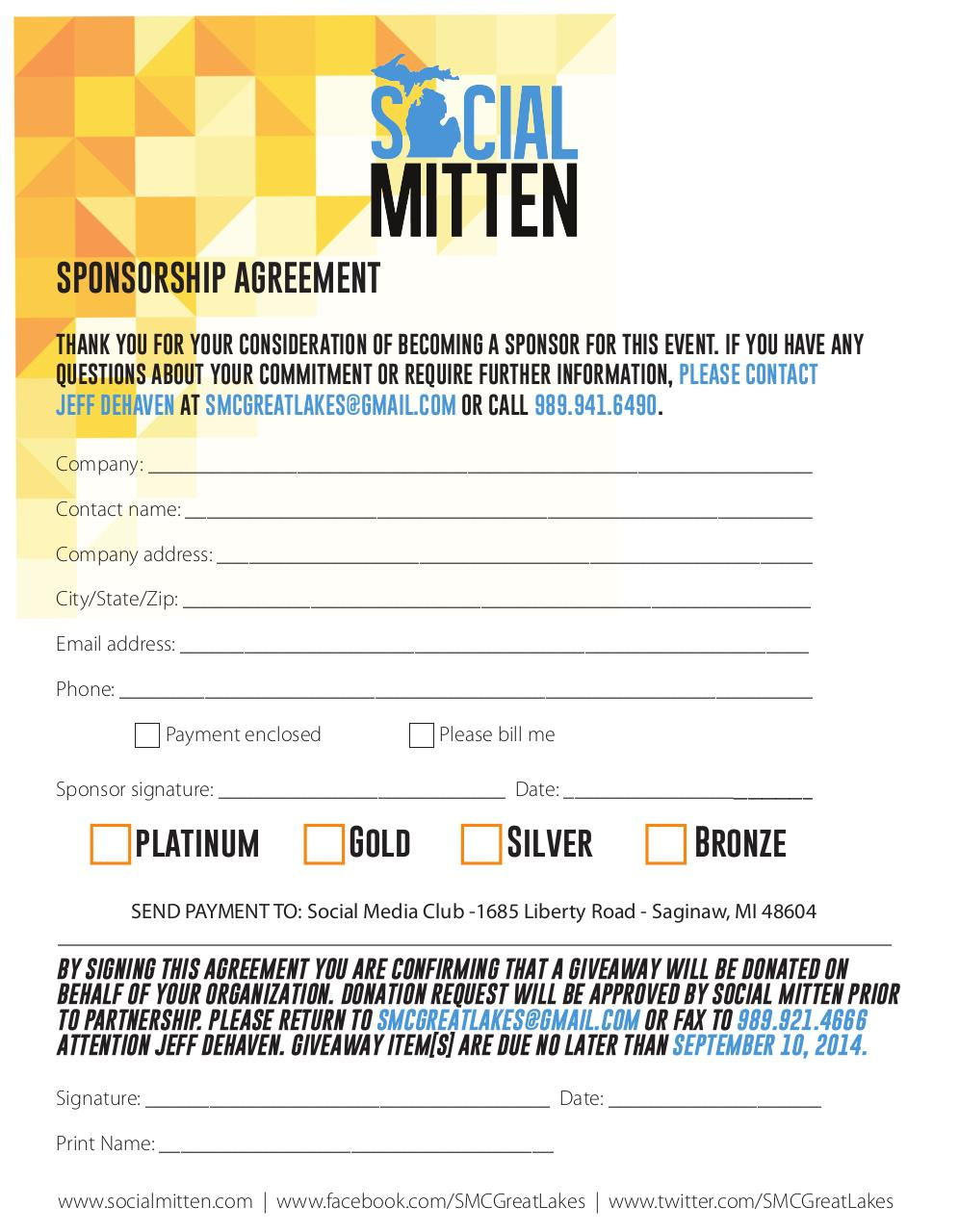 Document preview Social Mitten Sponsorship Agreement.pdf - page 2/2