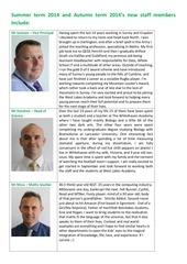 new staff 2014