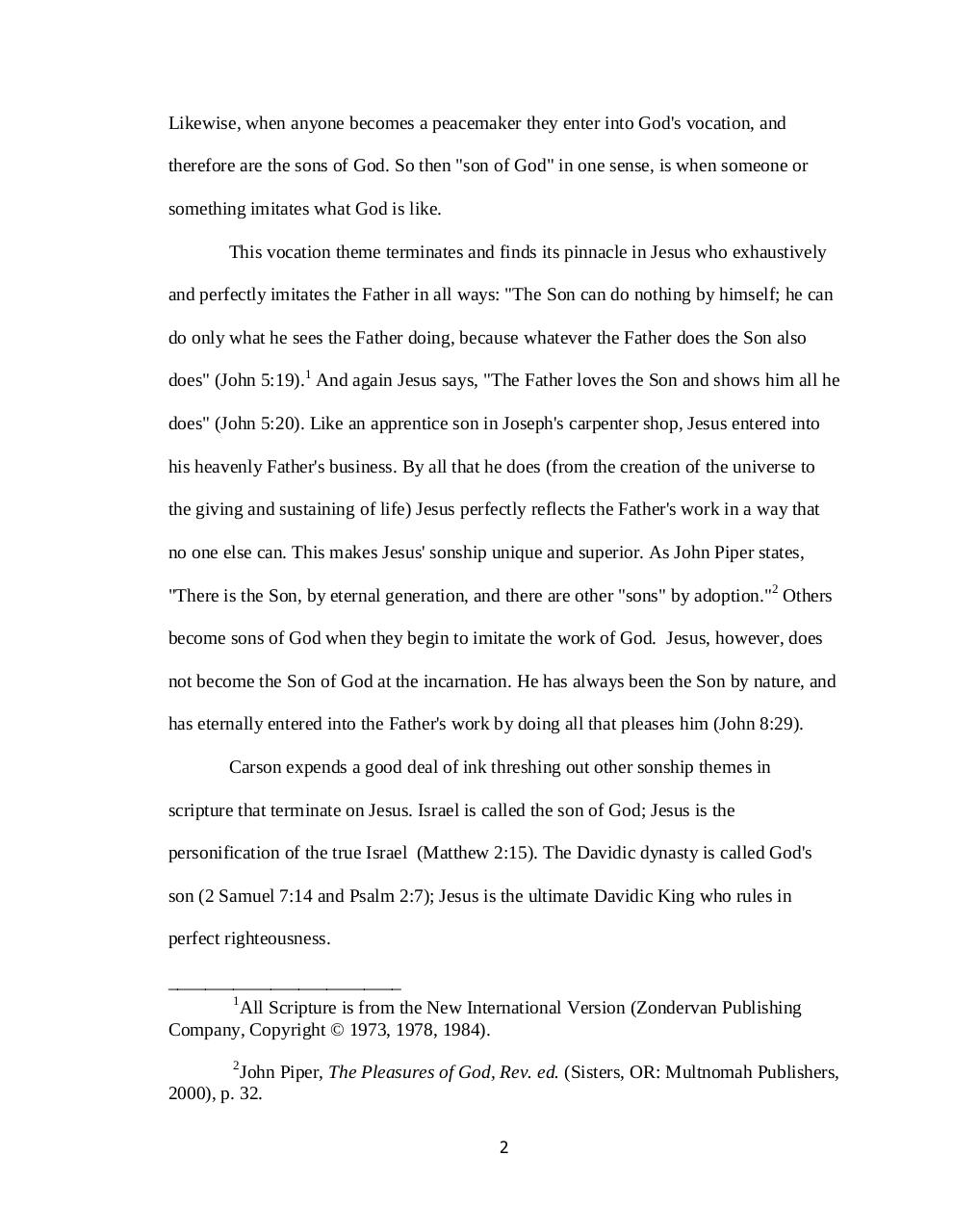 Document preview The Sonship of Jesus.pdf - page 2/5