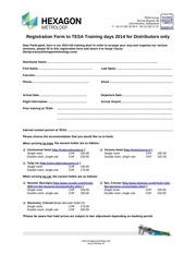 tesa trainings agenda 2014 and registration form reminder