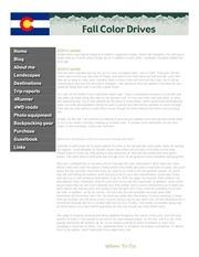 colorado fall color drives 2012